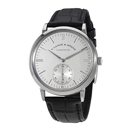 A Lange and Sohne Saxonia Silver Dial 18K White Gold Automatic Men's Watch 380.027