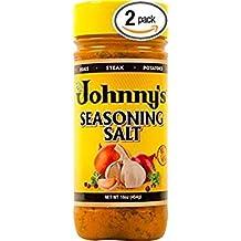 Johnny's Fine Foods Seasoning Salt, 16 Ounce (Pack of 2)