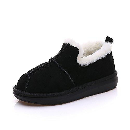 di cotone caldo imbottiti bassa black stivali breve Boots Snow aiuto di inverno spessore Rxwqf0HxY