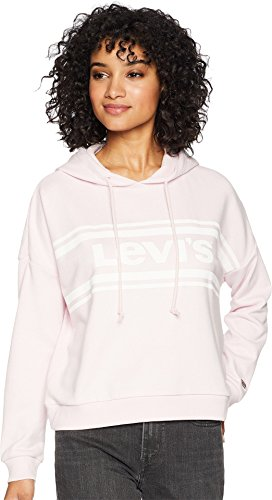 Levi's Women's Graphic Track Hoodie Sweatshirt, Sport Logo Light Lilac, Small