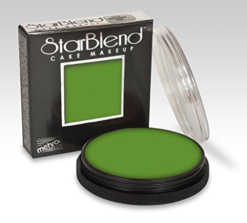 Starblend Cake Wet/dry Makeup By Mehron, Green 2 Ounces (Green Face Makeup)