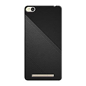 Cover It Up - Leather Stiched Redmi 3s Hard Case