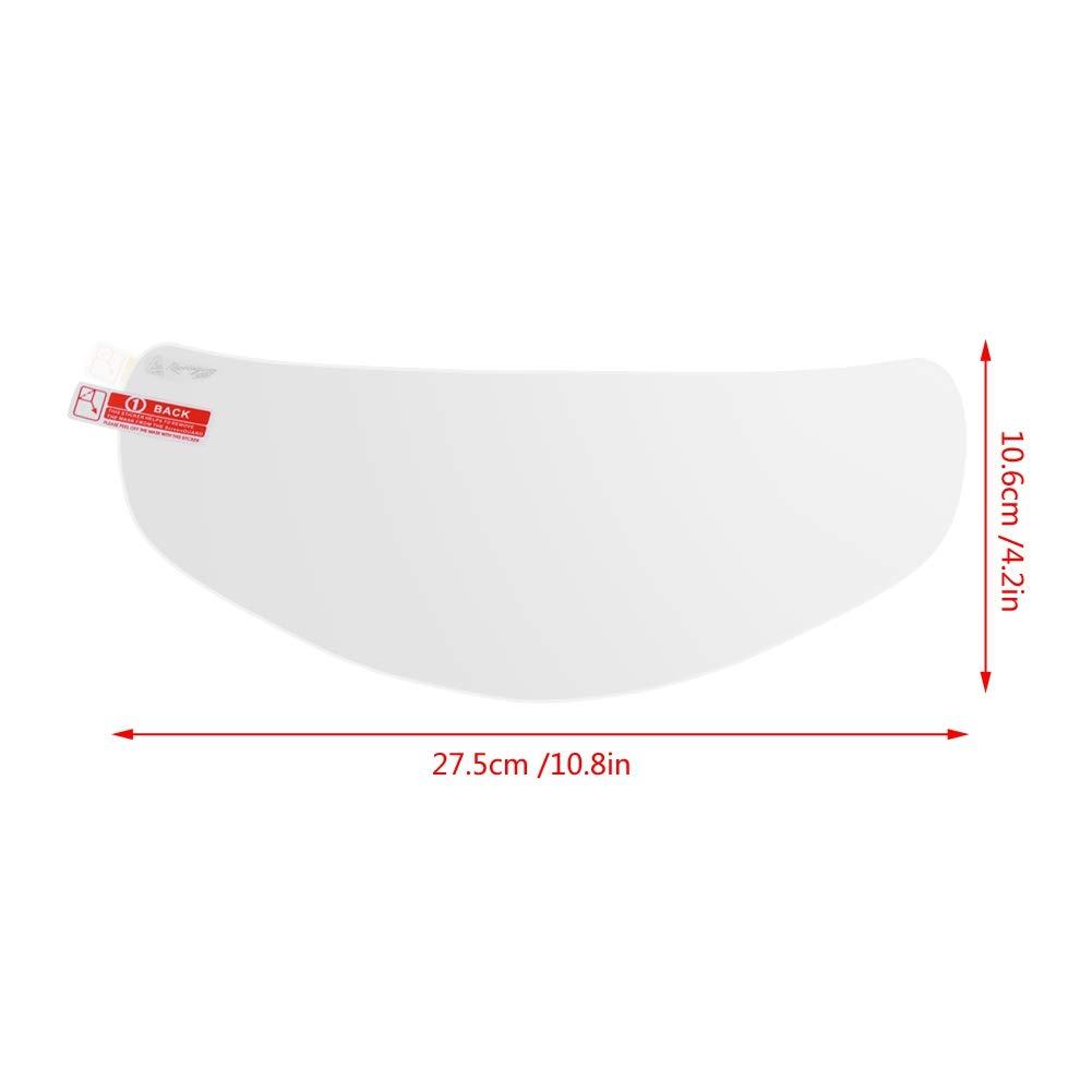 Aramox Protector de lente impermeable para casco de motocicleta protector de visera antivaho universal