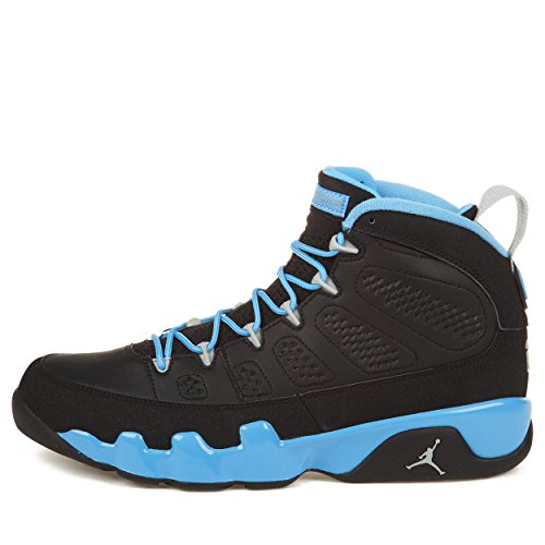 "Nike Mens Air Jordan 9 Retro ""Slim Jenkins"" Black/Matte Silver/Blue Leather Basketball Shoes Size 11.5"