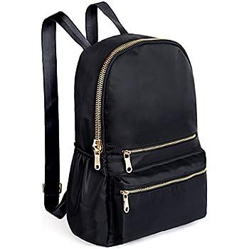 ef2fb9494c5a UTO Fashion Backpack Oxford Waterproof Cloth Nylon Rucksack School College  Bookbag Shoulder Purse Black