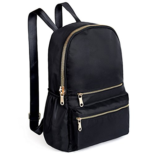 UTO Fashion Backpack Oxford Waterproof Cloth Nylon Rucksack School College Bookbag Shoulder Purse (Black Nylon Strap Jewelry)