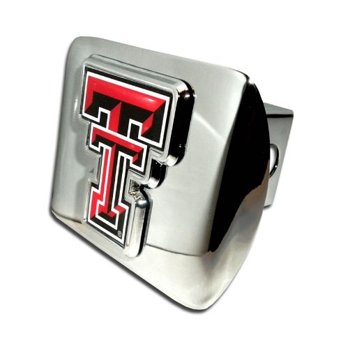 Texas Tech Red RaidersBright Polished Chrome with Color TT Emblem NCAA College Sports Trailer Hitch Cover Fits 2 Inch Auto Car Truck Receiver Elektroplate TT-CLR-CHR-HRC