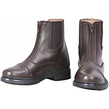 TuffRider Children's Starter Front Zip Paddock Boots | Kids Equestrian Horse Riding English Boots