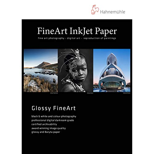 Hahnemuhle Fine Art Baryta 325, Ultra Smooth High Gloss, Bright White Inkjet Paper, 325gsm, 8.5x11