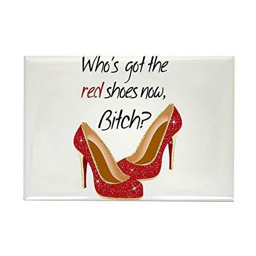 CafePress - Wizard Of OZ Who'sgot The Red Shoes Now Rectangle - Rectangle Magnet, 2