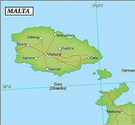 Amazon.com : Malta Political Map (36