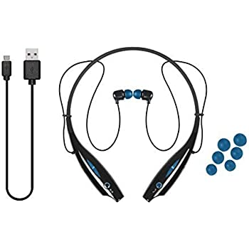 ac82611abb9 iJoy LGO-NCB-TRE Logo Premium Wireless Active Bluetooth Neck Band Headset  Retail Packaging (Blue)