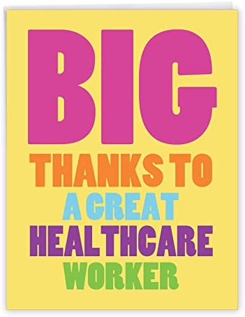 NobleWorks, Great Healthcare Worker – Funny Thank You Card Greeting Card (8.5 x 11 Inch) – J3722TYG-US