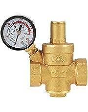 Vattentrycksregulator Reducer mässingventil DN20 Justerbar kontroll med mätmätare