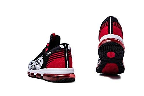Onemix Air Hombre Zapatos para Correr Transpirable Zapatillas de Running para Mujer Deportivas Calzado Unisex Adult Negro / Blanco / Rojo
