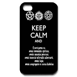 CTSLR Supernatural Hard Case Cover Skin for Apple iPhone 4/4s- 1 Pack - Black/White - 5