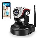 Wireless Security Camera, 1280x720p Home Surveillance Wireless IP Camera with Night Vision/Two Way Audio White