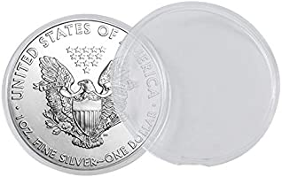 Plastic Clear Air Tite 40 mm Silver Eagle Protector Coin Holder 25 Pack