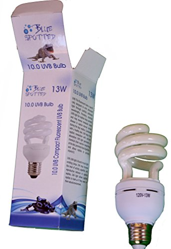 Blue Spotted UVB 10.0 Compact Fluorescent Bulb / Lamp (13 Watt) For Reptiles & Amphibians in Terrariums & Vivariums