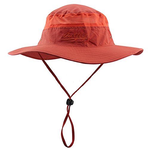 YCHY Outdoor UPF 50+ Boonie Hat Summer Sun Caps (Orange)