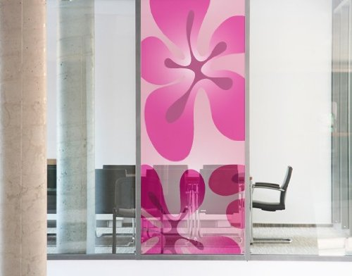 Window Mural HawaiiFeeling pink window sticker window film window tattoo glass sticker window art window décor window decoration Dimensions: 78.7 x 21.7 inches by PPS. Imaging