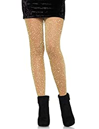 Leg Avenue womens standard Lurex Sparkly Shiny Glitter Footed Tights