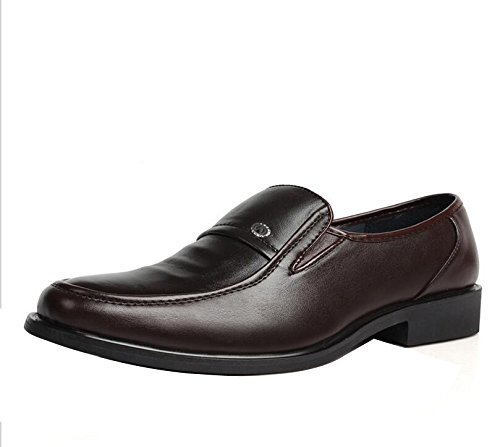 Gaorui Mens Loafers Leather Driving Shoes Business Formal Oxford Slip On Moccasins  Casual Shoes: Amazon.co.uk: Shoes & Bags