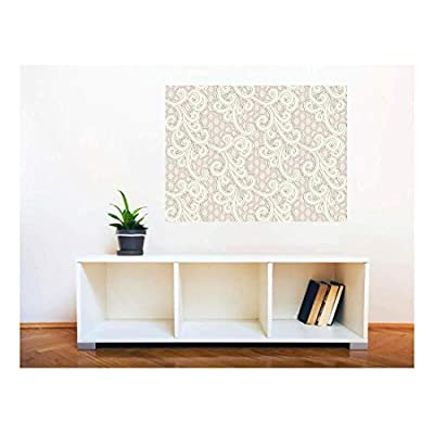 Removable Wall Sticker Wall Mural Lace Style Seamless...36
