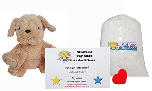 Make Your Own Stuffed Animal Mini 8 Inch Lab Dog Kit - No Sewing Required! -