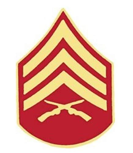 HMC Marine Corps Sergeant (SGT/E-5) Rank Insignia Pin - 14389 (1 inch)