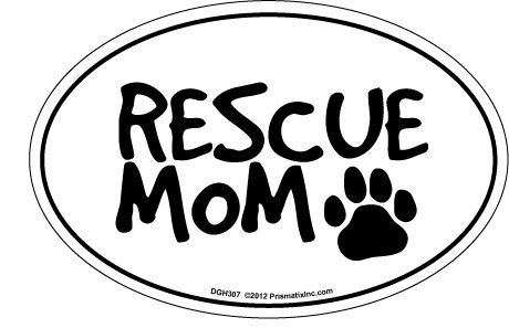 - Prismatix Decal Cat and Dog Magnets, Rescue Mom