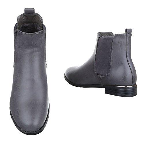 Ital-Design - Botas Chelsea Mujer gris