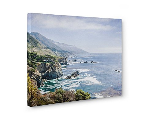 Large Canvas Print, California Big Sur Landscape Coastal Wall Decor, 'Rocky Rocks'