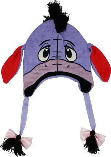 Winnie The Pooh - Unisex-Adult - Eeyore Big Face Peruvian Knit Hat Multi