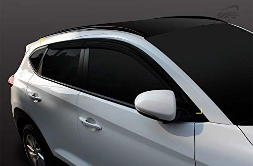 - SAFE Smoked Window Visor Sun Rain Vent Guard 4p for 2019 Hyundai Tucson
