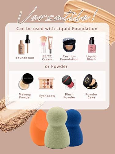 Makeup Blender Sponge - Unique Shapes Makeup Sponges Set + Holder | Quick, Flawless Makeup Applicator Sponges for Foundation, Liquid, Cream, Powder, Blush, Concealer