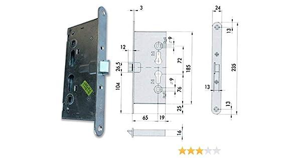 Cisa 43000.65E.0 - Cerradura embutir cortafuegos 43000.65.0: Amazon.es: Bricolaje y herramientas