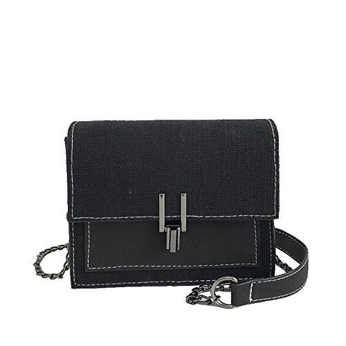 Women's GMDBA210885 Casual Black Bags Bags Black AgooLar Crossbody Canvas FqdBSzS