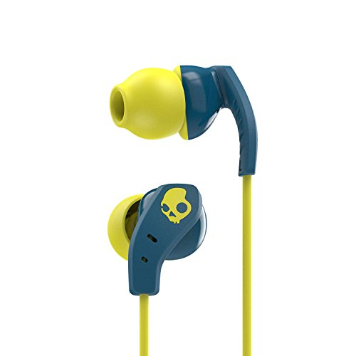 Skullcandy S2CDJY-358 Method In-Ear Sport Earbuds with Mic, Teal/Yellow