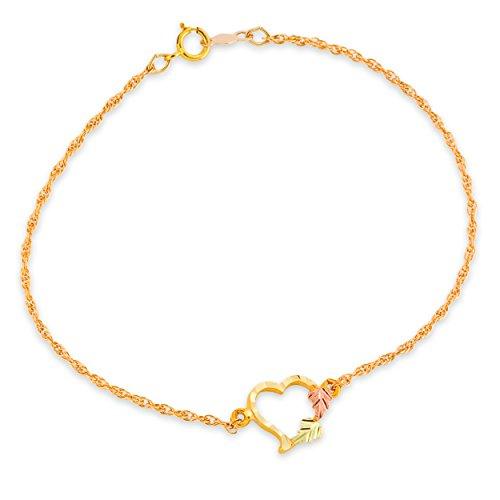 Black Hills Gold Black Bracelet - Black Hills Gold Heart Bracelet