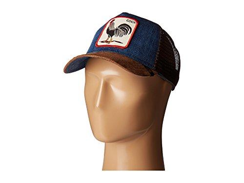 Goorin Bros. Men's Animal Farm Snap Back Trucker Hat, Brown/Denim Rooster, One Size]()