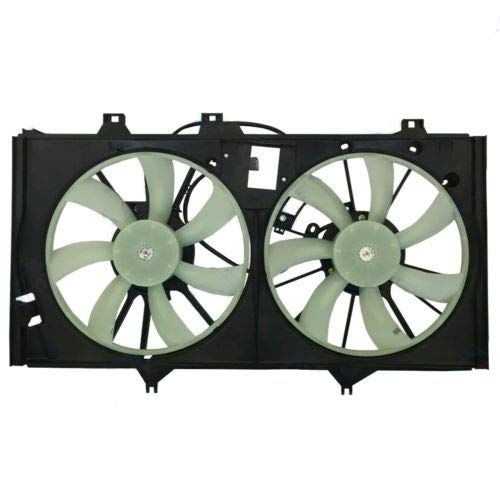 (New Radiator AC Condenser Cooling Fan fits Toyota Camry 2012 2013 2014 2015 2016 2017 Avalon 2013 2014 2015 2.5L 163630A150 TO3115173 BES51-100111)