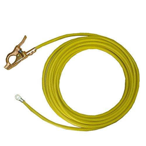 堺電業 60000-677 溶接用WCT 38SQ アース線(端子) 黄色 15m  B01M1S4N5P