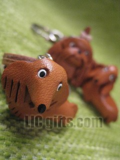 Price comparison product image * DACHSHUND Long Hair * VANCA Craft 3D Petit Mini Mascot Leather Dog Cell Phone Charms
