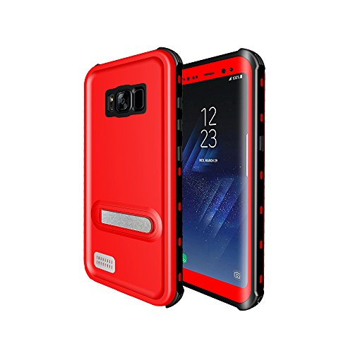 Samsung Galaxy S8 Waterproof Case, Premium Full Sealed Underwater Protective Shockproof Dirt-proof Snow-proof Case with Kickstand Cover for Galaxy S8 2017 Release, Retail Package