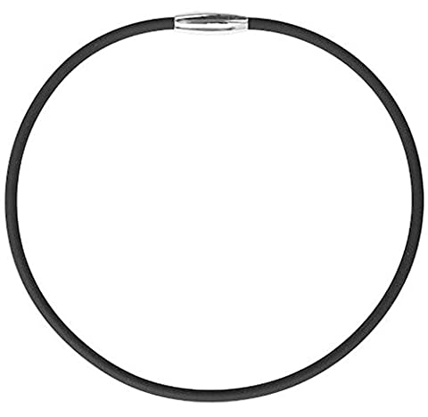 Black Titanium Magnetic Therapy Energy Sport Power Performance Baseball Softball Rubber Necklace for - Titanium Sport Health Necklace