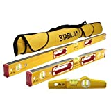 "Stabila Classic 196 3 Level Set Includes 48""/24""/25100 Torpedo and 30015 Case"