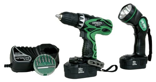 Factory-Reconditioned: Hitachi DS18DVF3 18-Volt Ni-Cad 1/2-Inch Cordless Drill/Driver Kit
