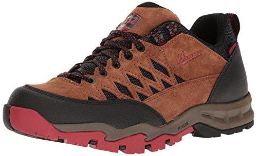 Danner Mens TrailTrek Light 3 Brown/Red Hiking Shoe