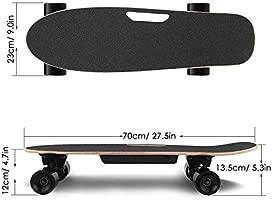 AMDirect Monopatín Eléctrico con Control Remoto y Sistema de Arranque de Empuje E-Board Longboard con Motor Li-Ion 2.2 Ah Velocidad hasta 20 km/h para ...
